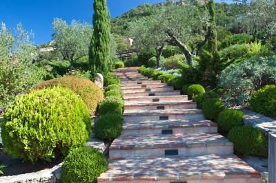 escalier allée jardin provençal